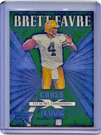 Brett Favre 1999 Leaf Rookies and Stars Cross Training Football Card #CT10 /1250