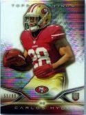 Carlos Hyde 2014 Topps Platinum Football Card #127 Rookie /99