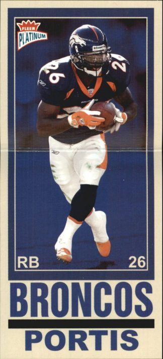 CLINTON PORTIS 2003 FLEER PLATINUM BIG SIGNS #5 Football Card