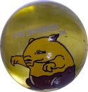 Drowzee #96 Lt. Yellow Colored GLASS Vintage Pokemon MARBLE