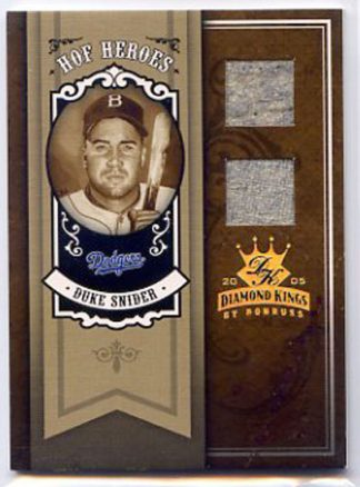 Duke Snider 2005 Donruss Diamond Kings #HH-35 /25 Game Worn Material Baseball Card