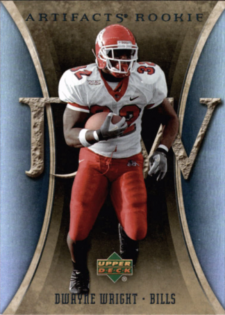 Dwayne Wright 2007 Artifacts Rookie #119 Football Card