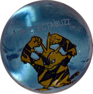 Electabuzz #125 Blue Colored GLASS Vintage Pokemon MARBLE
