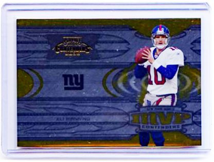 Eli Manning 2005 Playoff Contenders MVP Contenders Red Football Card #6 /500