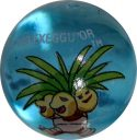 Exeggutor #103 Blue Colored GLASS Vintage Pokemon MARBLE
