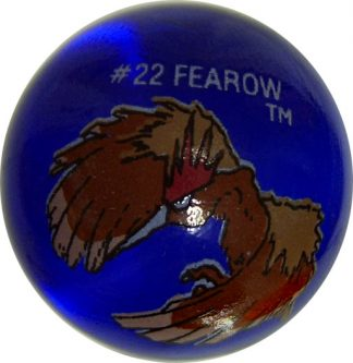Fearow #22 Dk. Blue Colored GLASS Vintage Pokemon MARBLE