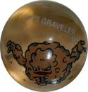 Graveler #75 Sand Colored GLASS Vintage Pokemon MARBLE