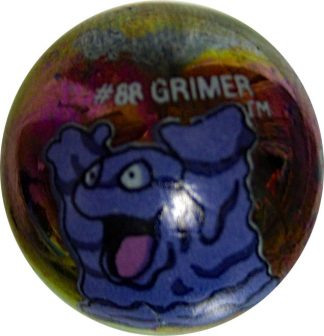 Grimer #88 Metallic Holo Colored GLASS Vintage Pokemon MARBLE