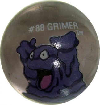 Grimmer #88 Lt. Purple Colored GLASS Vintage Pokemon MARBLE