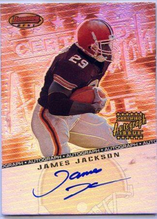 James Jackson 2001 Bowmans Best Certified Autograph Rookie Card #BB-JJ