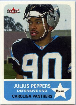 Julius Peppers 2002 Fleer Tradition #261 Rookie Football Card