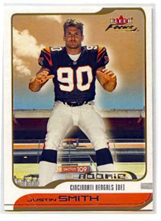 Justin Smith 2001 Fleer Focus #220 /1850 Rookie Card