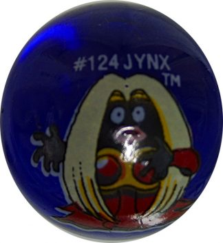 Jynx #124 Blue Colored GLASS Vintage Pokemon MARBLE