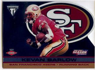Kevan Barlow 2001 Pacific Private Stock Titanium Post SEASON Rookie #P79 /795