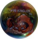 Kingler #99 Metallic Holo Colored GLASS Vintage Pokemon MARBLE