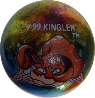 Kingler #99 Metallic Holo Colored GLASS Vintage Pokemon MARBLE