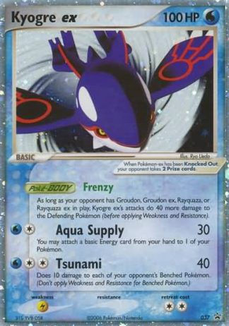 Kyogre ex #037 Holo Nintendo Black Star Promo Pokemon Card