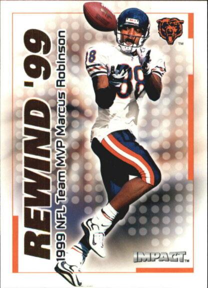 Marcus Robinson 2000 Fleer IMPACT REWIND 99 #6 Football Card