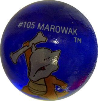 Marowak #105 Dk. Blue Colored GLASS Vintage Pokemon MARBLE