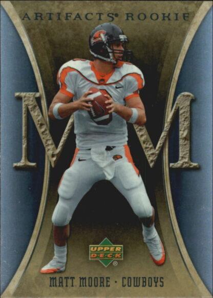 Matt Moore 2007 Artifacts Rookie #134 Football Card