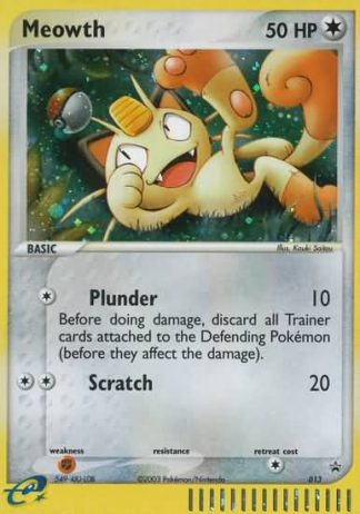 Meowth #013 Nintendo Black Star Promo Pokemon Card