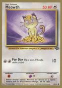 Meowth 56/64 Gold Border Fruit Roll Up Promo Pokemon Card