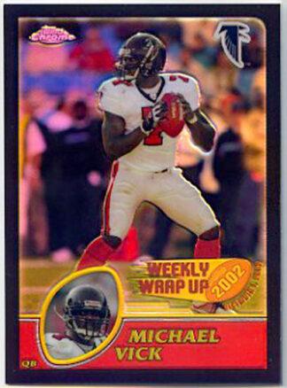 Michael Vick 2003 Topps Chrome Black Refractors Falcons Card #158 /599