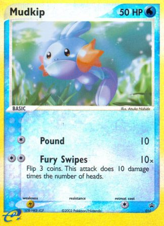 Mudkip #010 Reverse Holo Nintendo Black Star Promos Pokemon Card