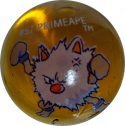 Primeape #57 Dk. Orange Colored GLASS Vintage Pokemon MARBLE