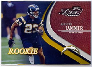 Quentin Jammer 2002 Playoff Piece of the Game Football Card #76 Rookie /500