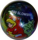 Slowbro #80 Metallic Holo Colored GLASS Vintage Pokemon MARBLE
