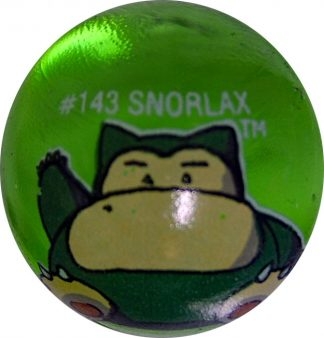 Snorlax #149 Green Colored GLASS Vintage Pokemon MARBLE