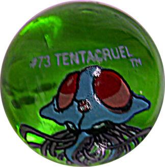 Tentacruel #73 Green Colored GLASS Vintage Pokemon MARBLE