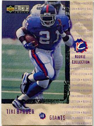 Tiki Barber 1997 Upper Deck Collector's Choice #335 Football Card