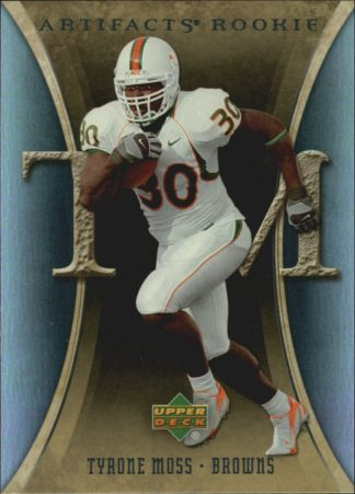 Tyrone Moss 2007 Artifacts Rookie #199 Football Card