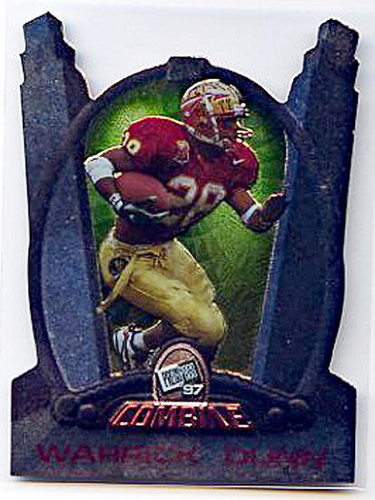 Warrick Dunn Promo 1997 Press Pass Combine #1 Football Card