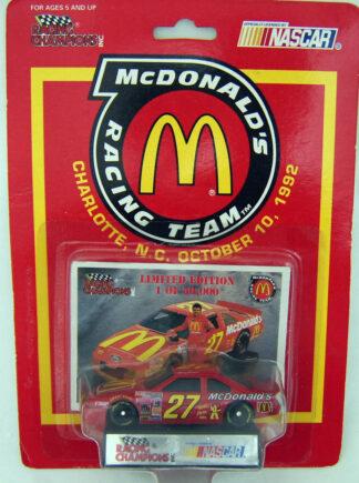 Hut Strickland RACING CHAMPIONS 1994 McDONALDS RACING TEAM #27 /50,000 1:64 Die Cast