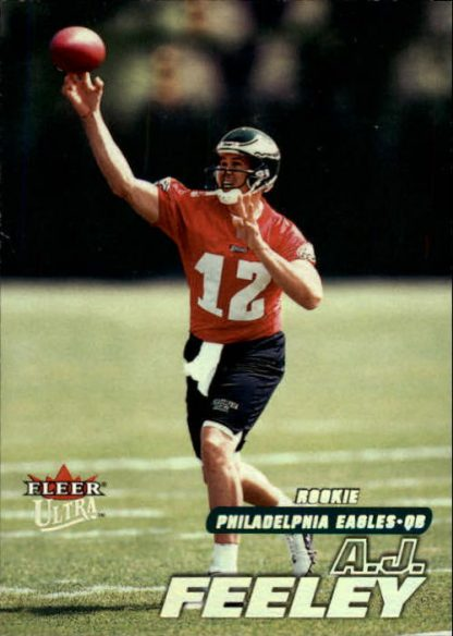 A J Feeley 2001 Fleer Ultra Rookie Card #U304 / 2499